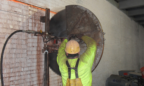 Wall Sawing Services : Henriksen contracting services